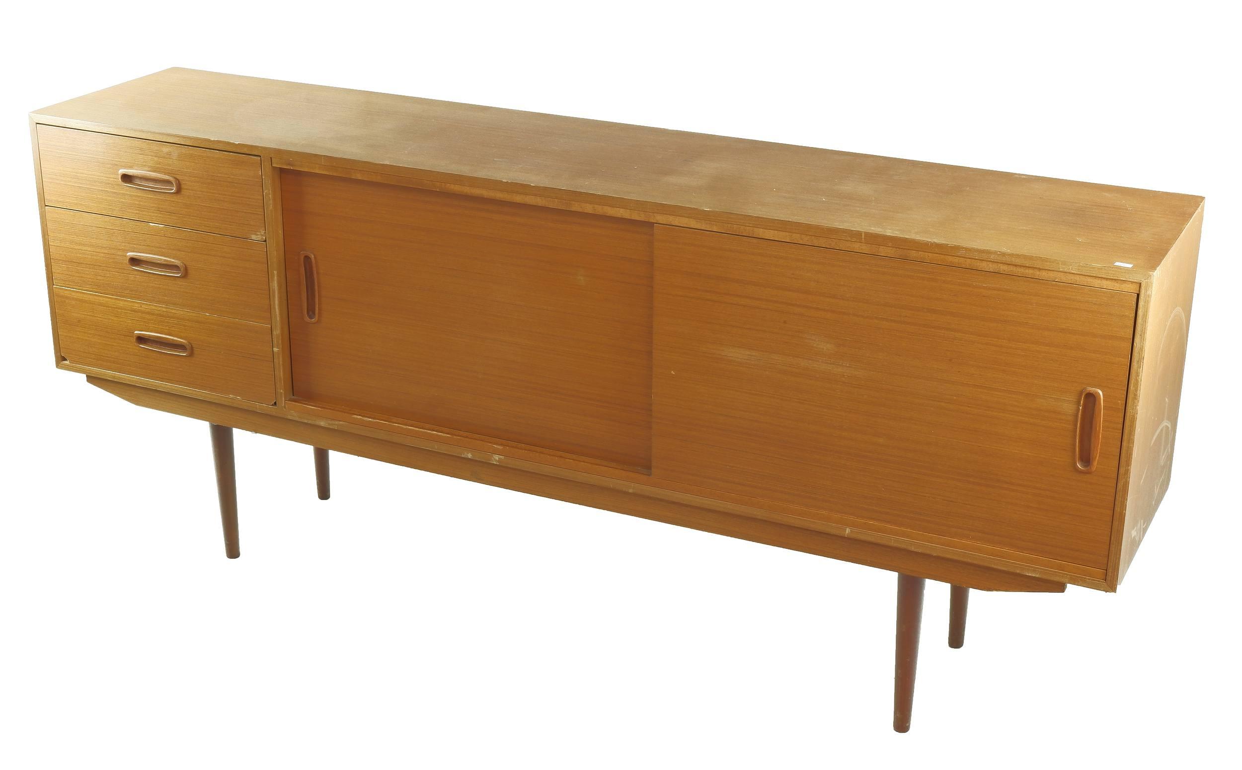 'Retro Teak Lowline Sideboard, Circa 1960s'