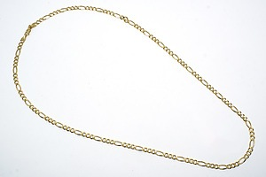 Vintage 14ct Gold Fancy Link Chain 61cm Length