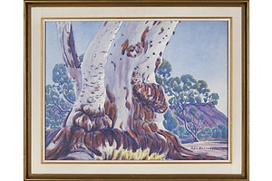Rex Battarbee (1893-1969), Ghost Gum 1959, Watercolour on Paper