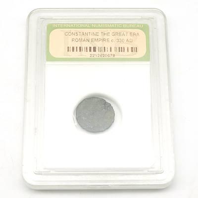 Sealed Roman Empire Coin