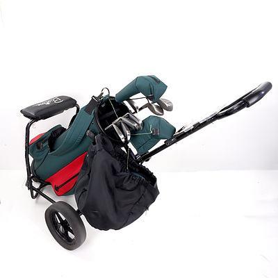 Dynaflite 13 Piece Golf Club Set with Proline Bag and Buggy