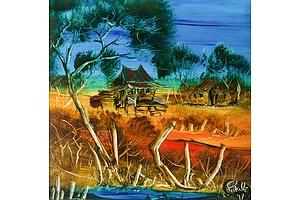 PETALI Nick (1932-2014) Outback Property, 1997