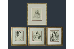 Four Norman Lindsay Prints
