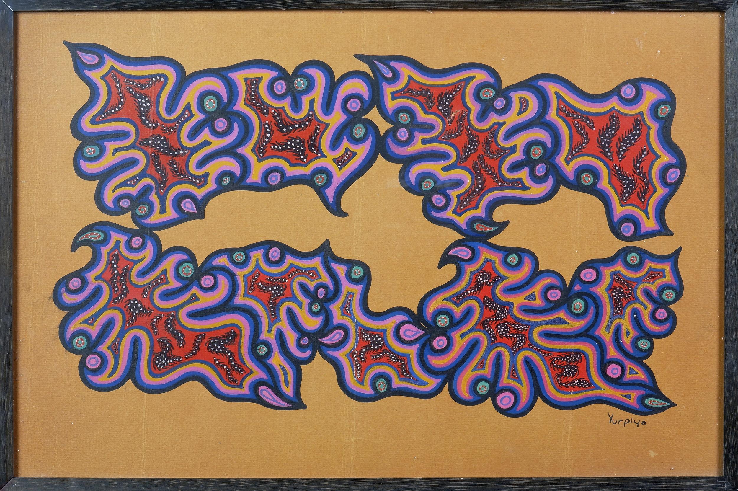 'Yurpiya Lionel (born 1960, Pitjantjatjara language group), Untitled late 1960s, Gouache on Paper'