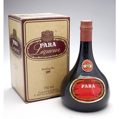 Para Liqueur Port No 109 - 750ml in Original Box