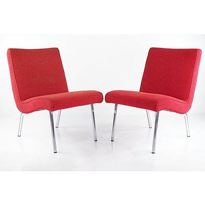 Pair of Walter Knoll Chairs Designed by Jens Risom