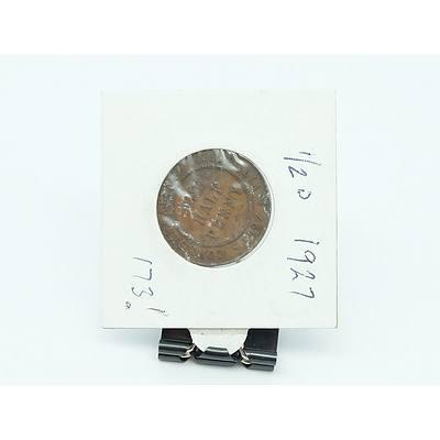 Australian 1927 Half Penny