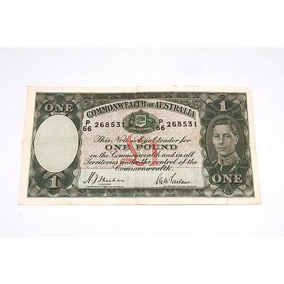 Commonwealth of Australia Sheehan/McFarlane One Pound Note, P66 268531