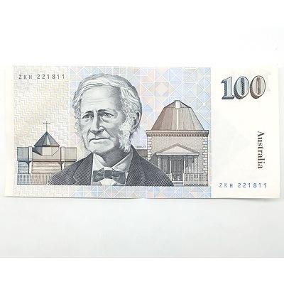 Australian Cole/ Fraser $100 Note, ZKH221811