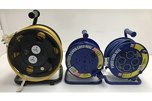 Three Extension Cable reels