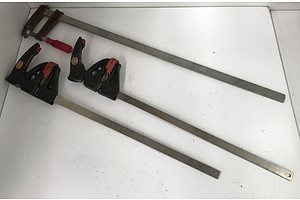 Bar and F Clamps -Lot Of Three