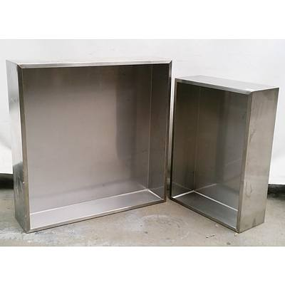 Two Stainless Steel Water Feature Bases
