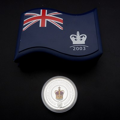 Cased Perth Mint 1953-2003 Anniversary of Coronation One Dollar Coin