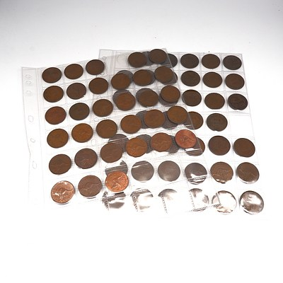 Collection of Australian Pennies, Various dates from 1911- 1964