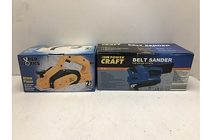 Power Craft Belt Sander and Super Works 82mm Planer