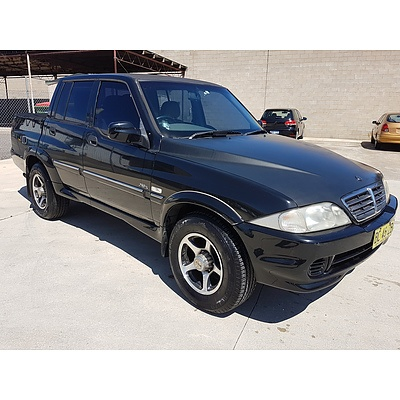 12/2006 Ssangyong Musso Sports (4x4)  Dual Cab P/up Black 2.9L