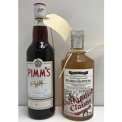 Pimm's No.1 and Outlandish Claims Bitter Tonic