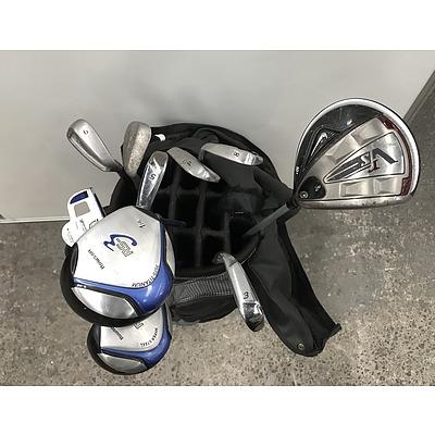 Set Of Golf Clubs In Maxfli Bag