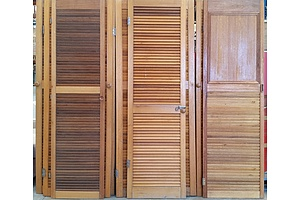 2040mm Louvered Hinged Doors - Lot of Seven