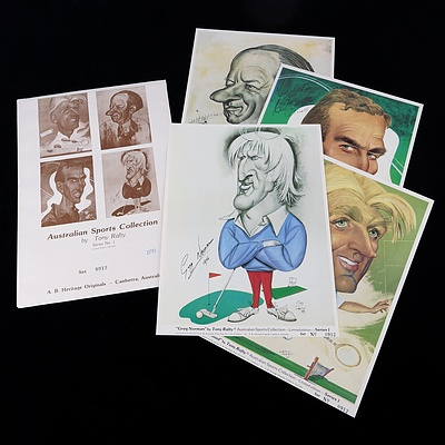 Set of Four Limited Edition Tony Rafty Australian Sports Collection Series  1 Prints - Each 31 x 23 cm
