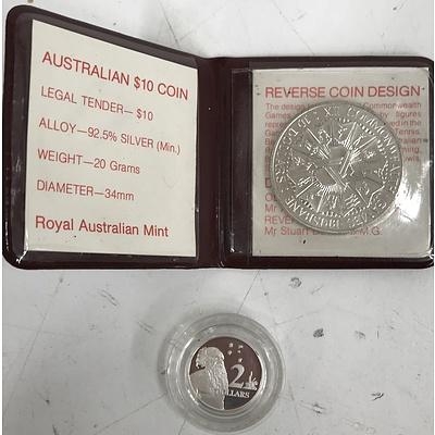 Australian $10 Coin and Australian Silver $2 Coin