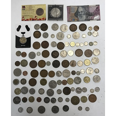 Assorted Australian & Foreign Coins & Notes
