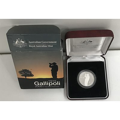 2005 Gallipoli  Australain $1 Silver Coin