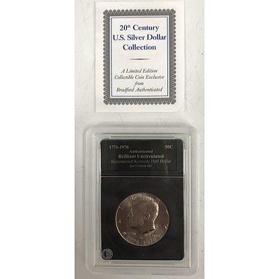 1776 - 1976 Bicentennial Kennedy Half Dollar, Bradford Exchange