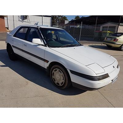 7/1991 Mazda 323 Astina  5d Hatchback White 1.8L
