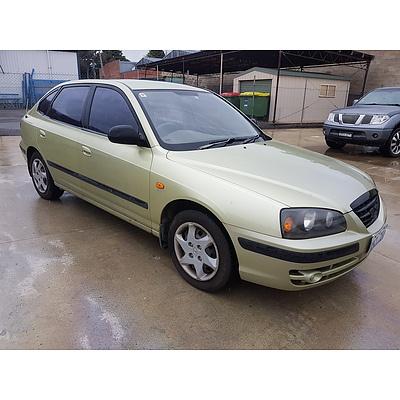 5/2004 Hyundai Elantra 2.0 HVT XD 4d Sedan Green 2.0L