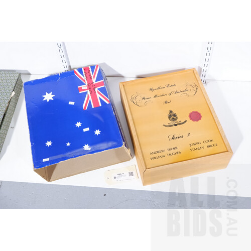Boxed Four Bottle Set of Wyndham Estate Prime Ministers Port - Fisher, Cook, Hughs, Bruce