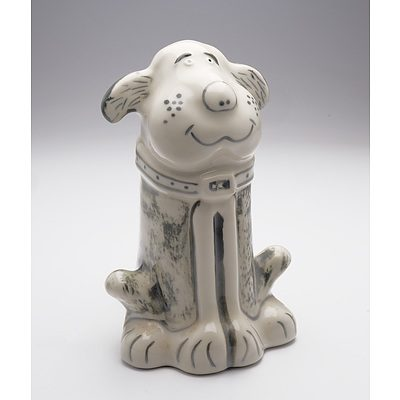 Ettamogah Pub Port in Stoneware Dog Decanter