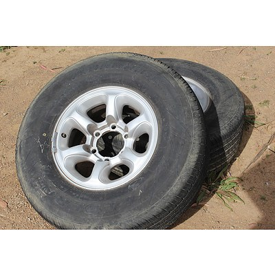 15 Inch  Rims With Tyres - Lot of Two