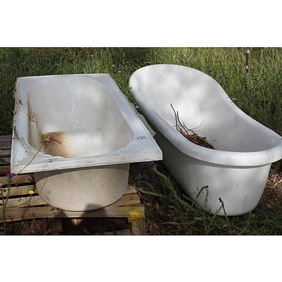 1500mm Fiberglass Bath Tubs x 2