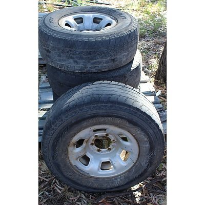 16 Inch  Rims With Tyres - Lot of Four