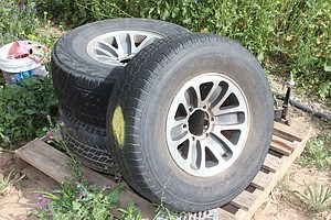 15 Inch  Rims With Tyres - Lot of Three