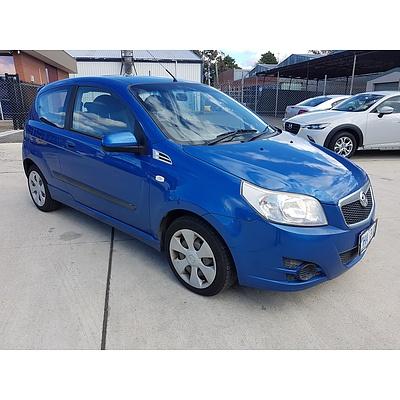 1/2010 Holden Barina  TK MY10 3d Hatchback Blue 1.6L