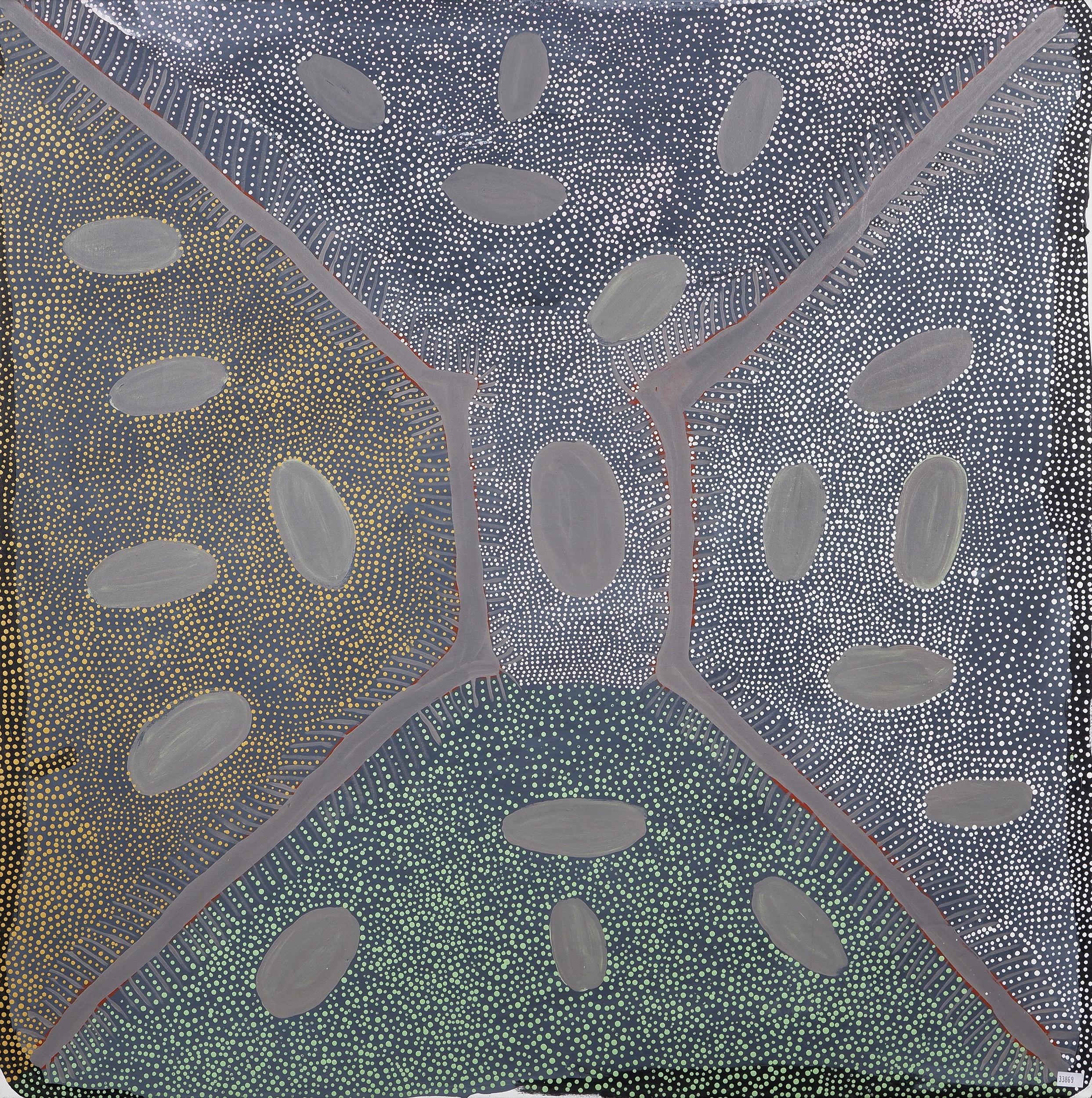 'Ada Bird Petyarre (c1930-2009, Eastern Anmatyerr language group), Womens Dreaming - Aweyle 1995, Acrylic on Canvas '