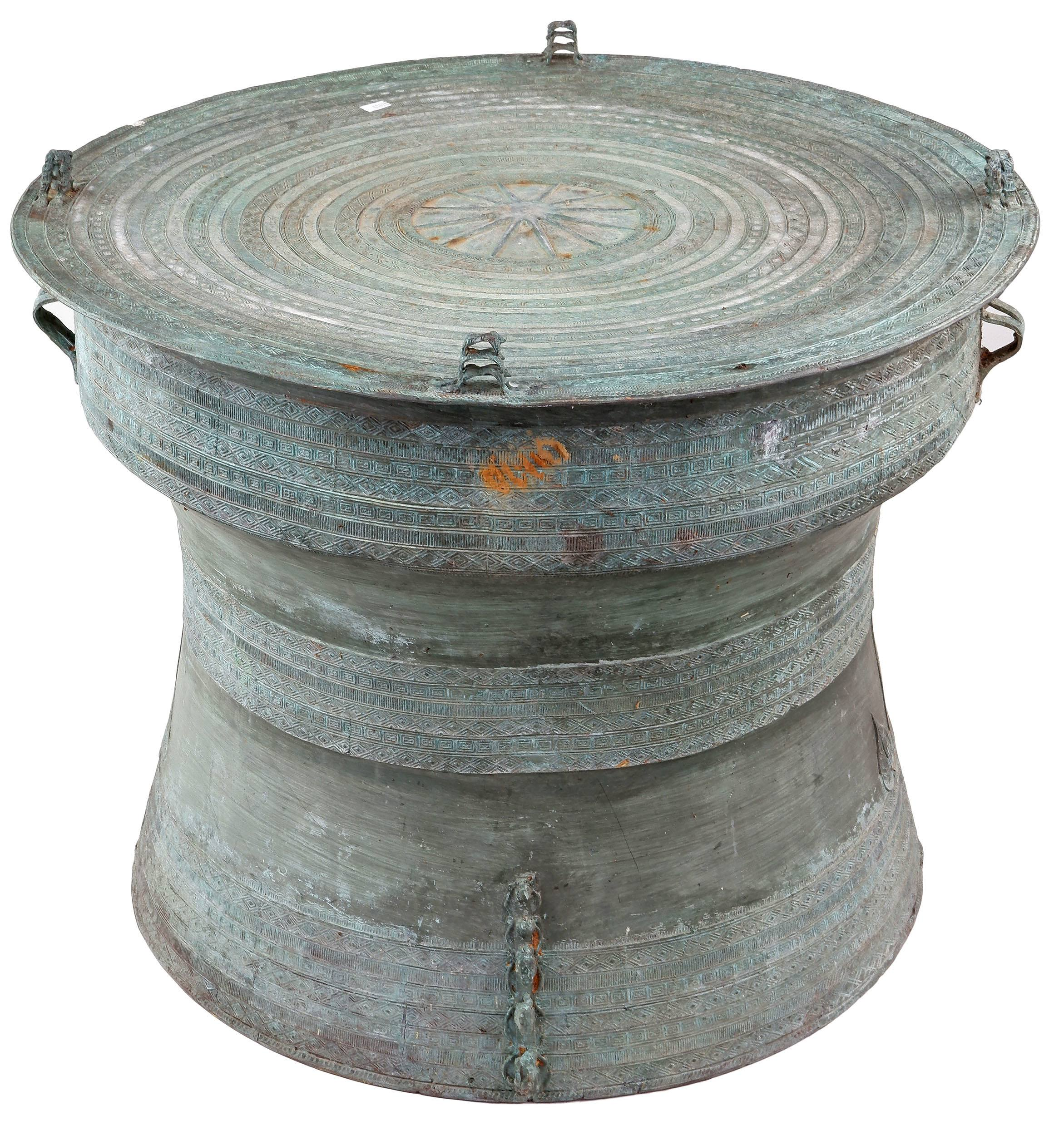 'Shan States Bronze Rain Drum'