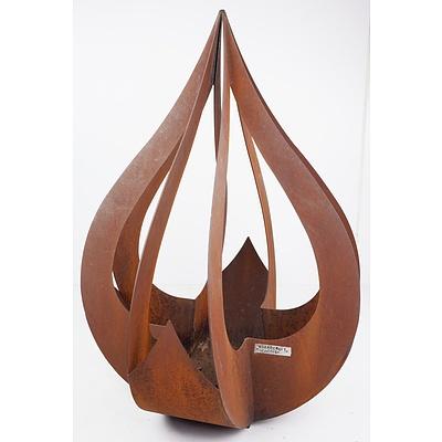 Large Handcrafted Rustic Metal Garden Planter by Broadcroft Design