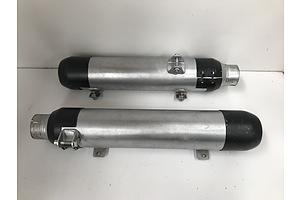 Harley Davidson Twin Exhaust Mufflers