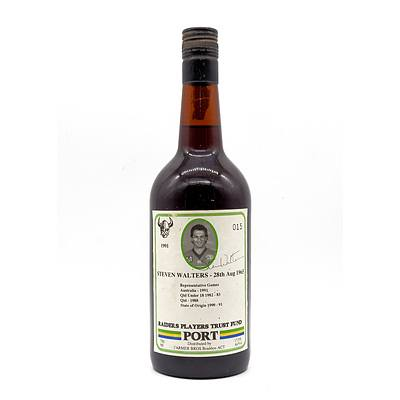 Vintage Canberra Raiders Players Trust Fund 1991 Commemorative Port - 'Steven Walters'