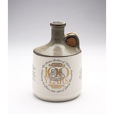 Brown Brothers 100 Years of Winemaking Commemorative Port in Stoneware Decanter
