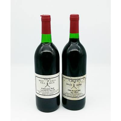 Two Vintage Parliament house Red Wines -  P.H.C.A. Sweet Hill Dry Red 1986 and C.H.J.V. Rough Hill Dry Red 1986 (2)