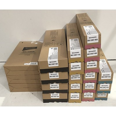 Sharp Assorted Toner Cartridges - Lot of 29