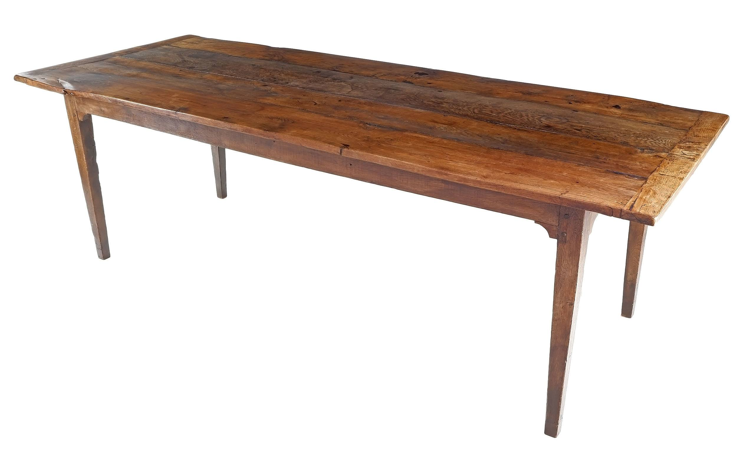 'Superb Antique French Oak Farmhouse Dining Table with Breadboard Ends of Good Proportions - Circa 1740'