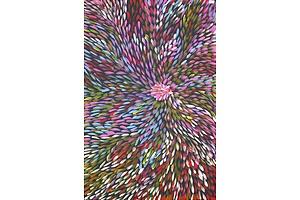 Gracie Morton Pwerle (born c1956), Medicine Leaves, 2018, Acrylic on Canvas