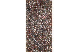 Gracie Morton Pwerle (born c1956), Bush Yam Leaves, 2018, Acrylic on Canvas