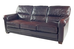 Classic Moran Benson Burgundy Leather Three Seater Club Lounge (2nd of a Pair)