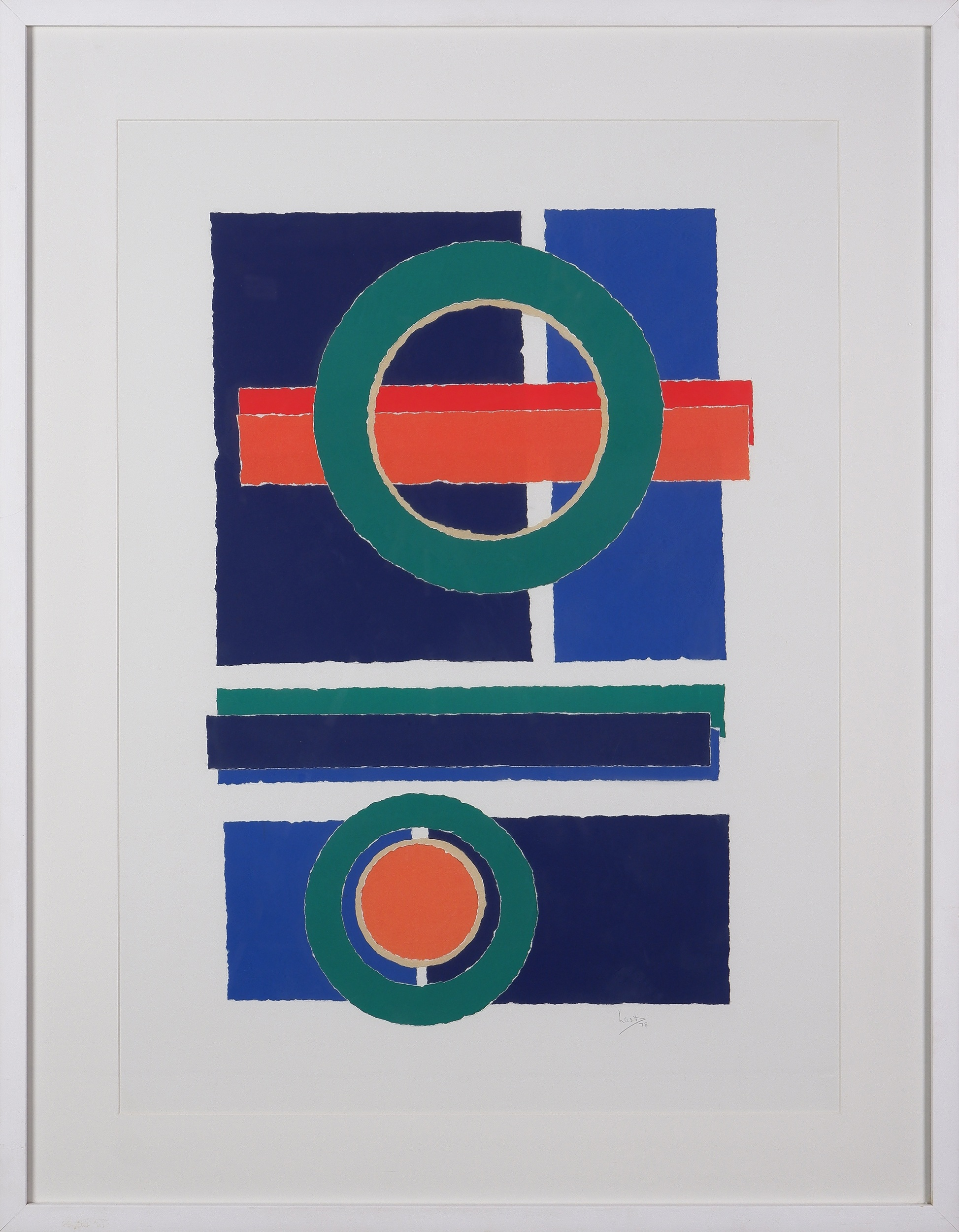 'Clifford Last (1918-1991), Untitled (Circles) 1978, Paper Collage'